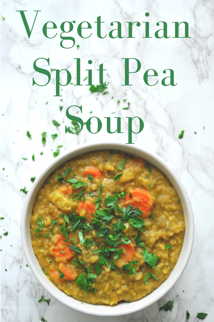 Easy Vegetarian Split Pea Soup - Bloom & Spark